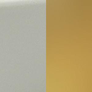 BI - Branco / Latão polido