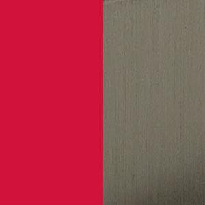 BL - Vermelho ral 3003 / Níquel escovado