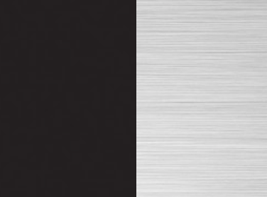 CX - Schwarz matt/ Nickel gebürstet