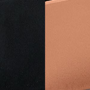 ZO - Preto mate / Cobre pintado